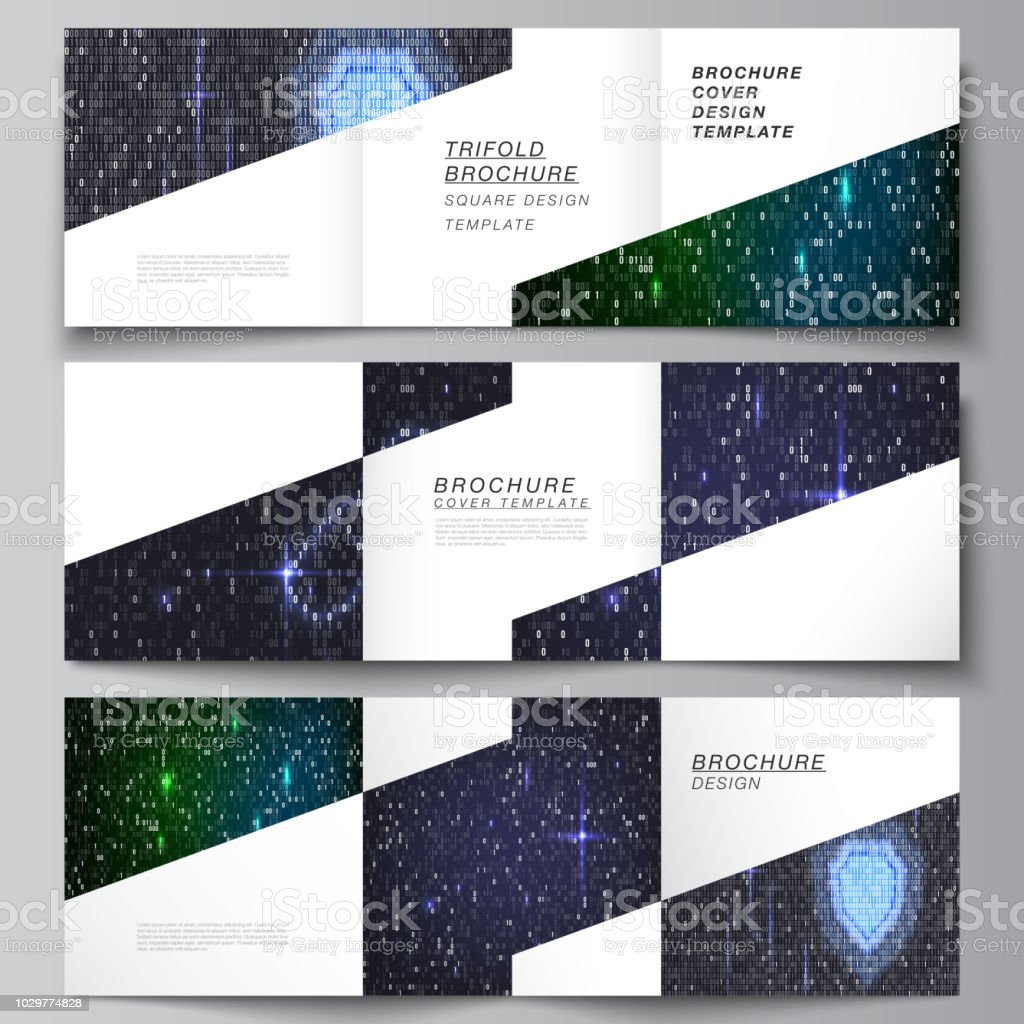 the minimal vector layout of two square format covers design