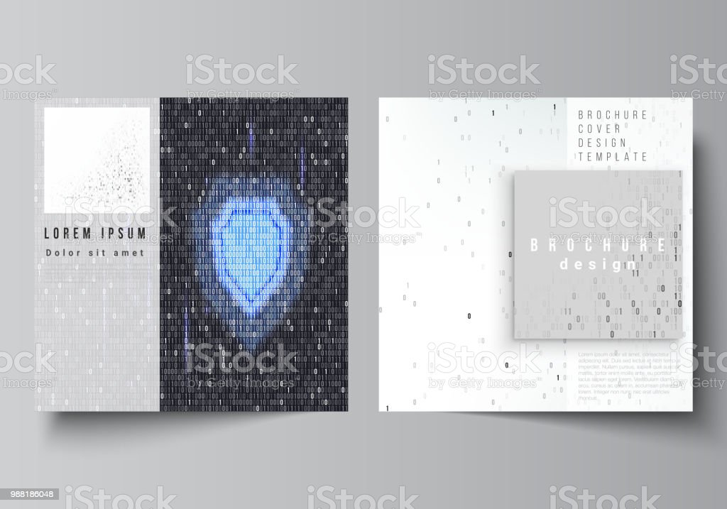 The minimal vector layout of two square format covers design...