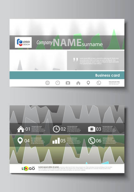 The Minimalistic Abstract Vector Illustration Of Editable Layout Two Creative Business Cards Design Templates