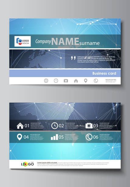 Royalty Free Pics Of Futuristic Business Cards Clip Art Vector