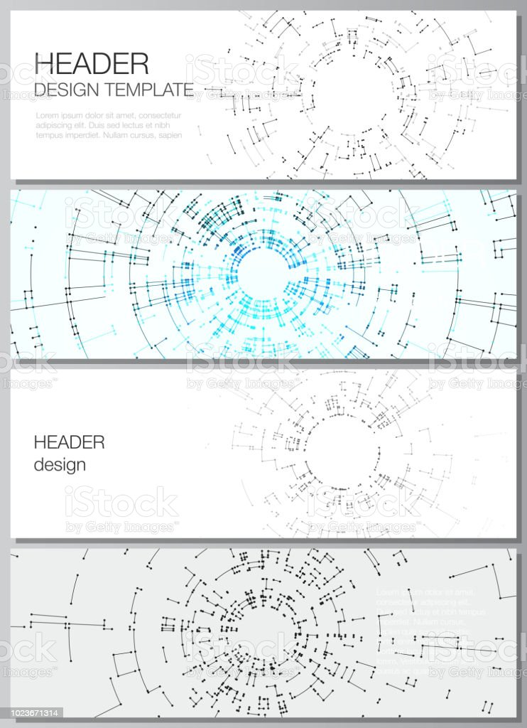 the minimalistic vector layout of headers banner design templates