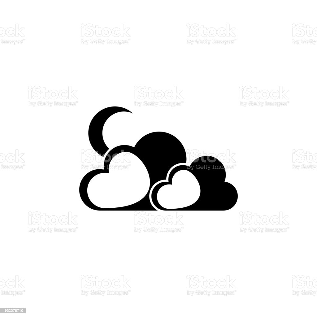 The moon behind the clouds icon element of weather elements element of weather elements illustration premium quality graphic buycottarizona Gallery