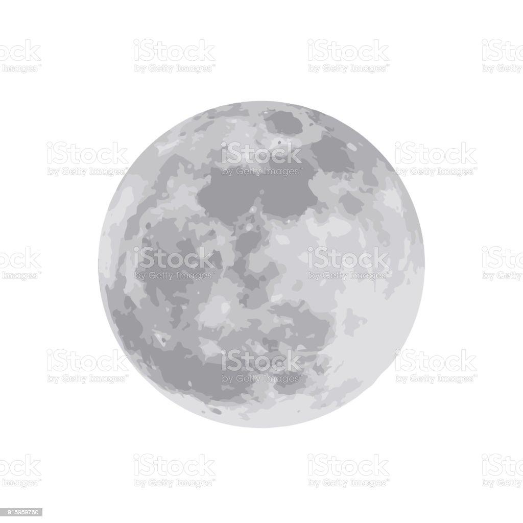白い背景に分離された月。ベクトルの図。EPS 10 ベクターアートイラスト