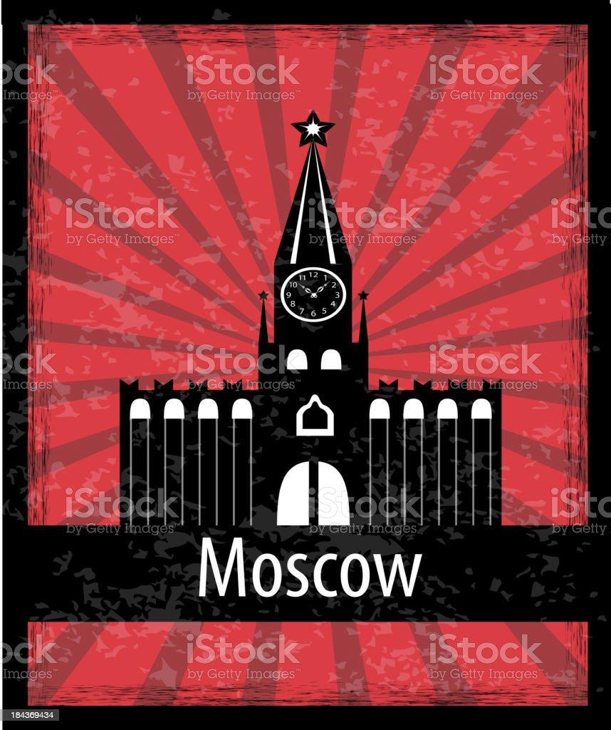 The Moscow Kremlin royalty-free stock vector art