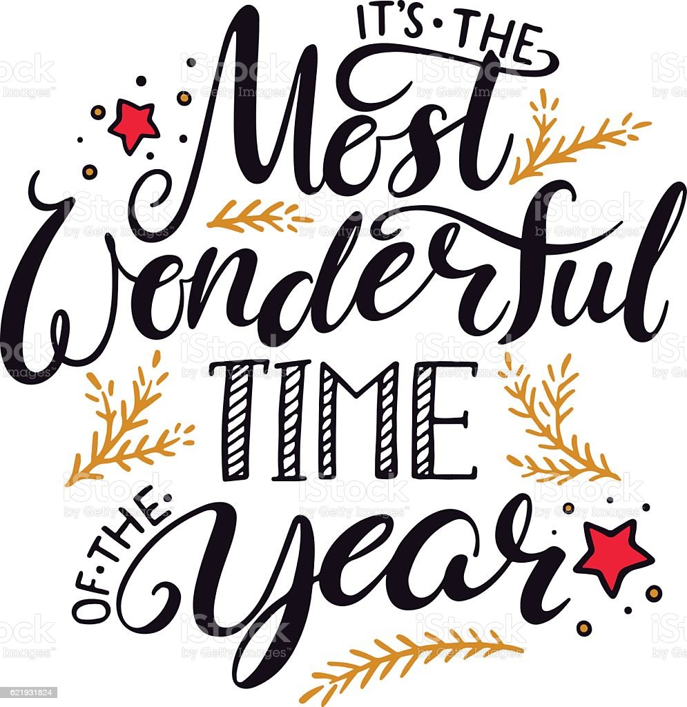The Most Wonderful Time Of The Year stock vector art ...