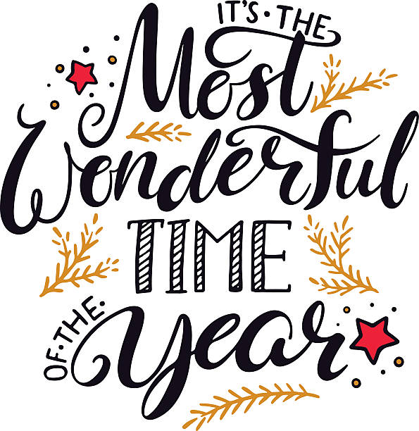 the most wonderful time of the year - wow stock-grafiken, -clipart, -cartoons und -symbole