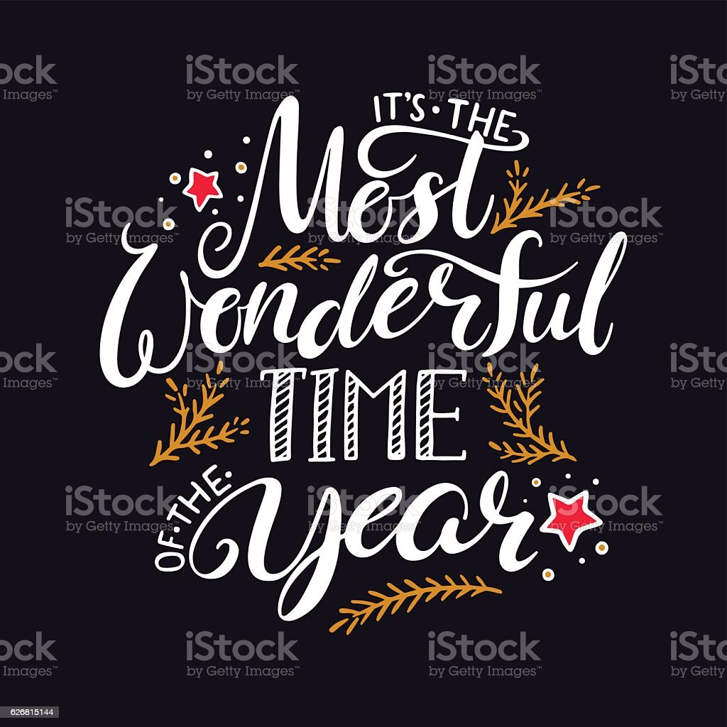 the most wonderful time of the year - ilustración de arte vectorial