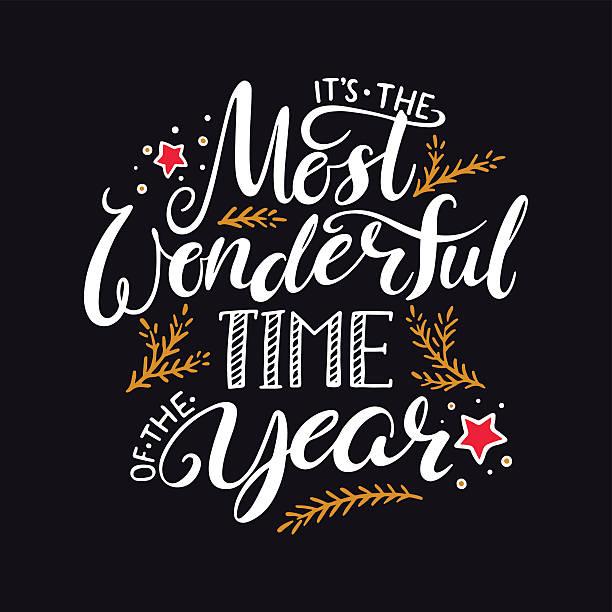 ilustraciones, imágenes clip art, dibujos animados e iconos de stock de the most wonderful time of the year - festividades y de temporada