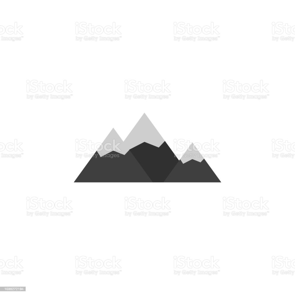The Mountains Colored Illustration Element Of Camping Icon