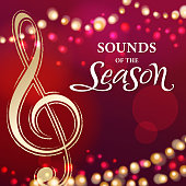 Celebrate Christmas day with music and dance in the sparkle lights background
