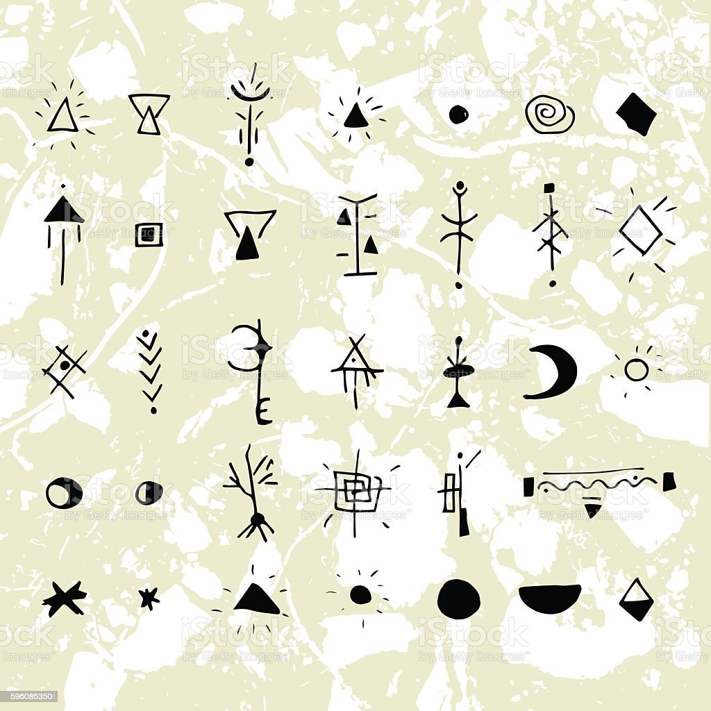 The mystical signs and symbols. royalty-free the mystical signs and symbols stock vector art & more images of abstract