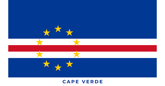 The national flag of Cape Verde. Vector illustration of Cape Verde, Vector of Cape Verde flag.