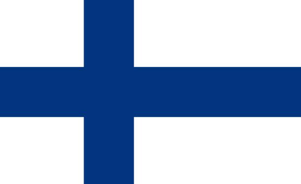 ilustraciones, imágenes clip art, dibujos animados e iconos de stock de la bandera nacional de finlandia - bandera finlandesa
