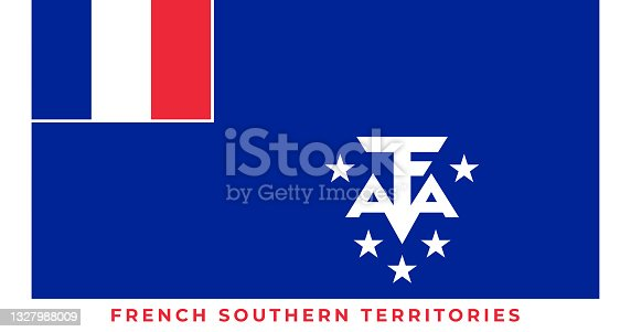 istock The national flag of French Southern Territories. Vector illustration of French Southern Territories, Vector of French Southern Territories flag. 1327988009