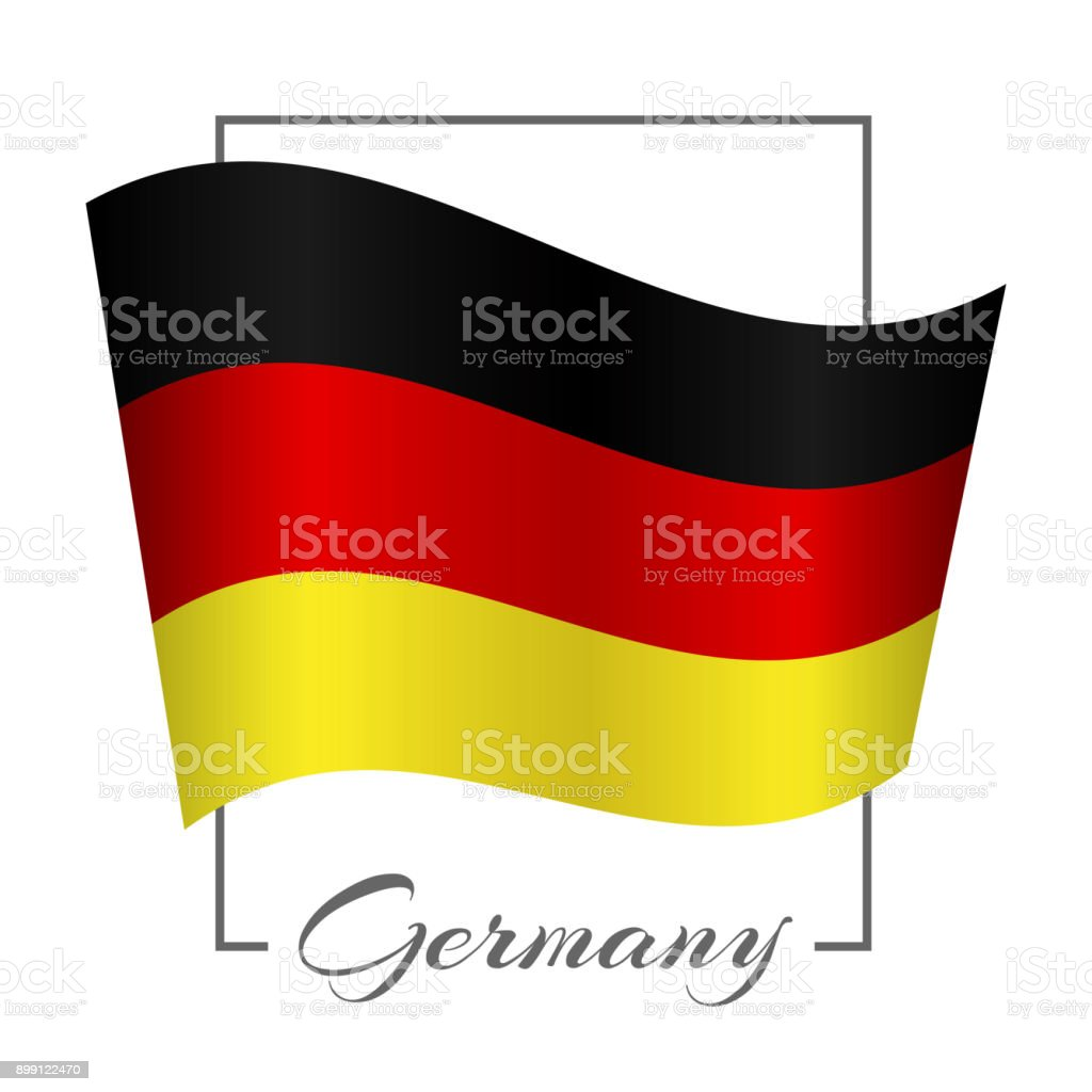 The National Flag Of Germany In A Rectangular Frame With The