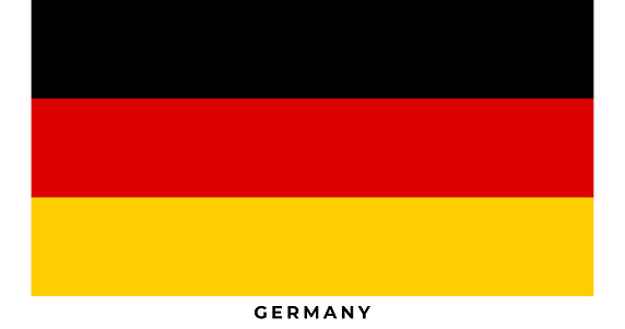 The national flag of Germany. Vector illustration of Germany, Vector of Germany flag.