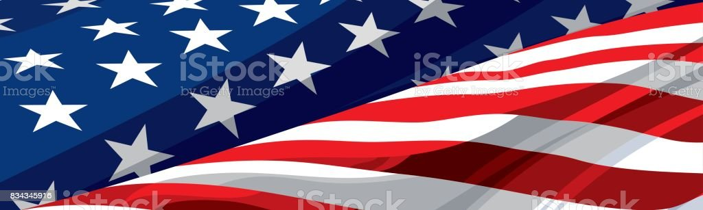 The national symbol of the USA vector art illustration