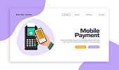The New Normal Concept - Mobile Payment Payment Vector Illustration