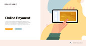 The New Normal Concept - Online Payment Vector Illustration