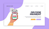 The New Normal Concept - QR Code Payment Vector Illustration