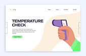 The New Normal Concept - Temperature Check Vector Illustration