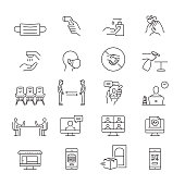 The New Normal Icons. Outline Symbol Icons