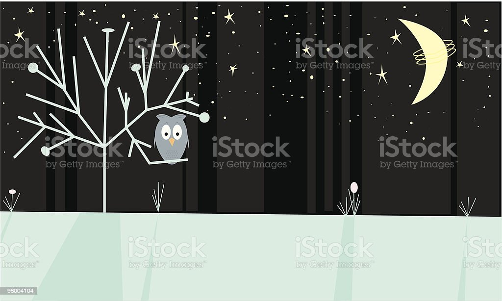 The Night Owl royalty-free the night owl stock vector art & more images of 1950-1959