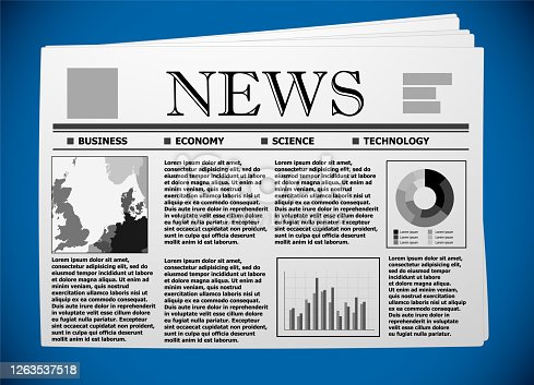 The North European business and economy on newspaper.