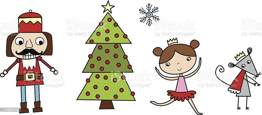 The Nutcracker Ballet Illustrations royalty-free stock vector art