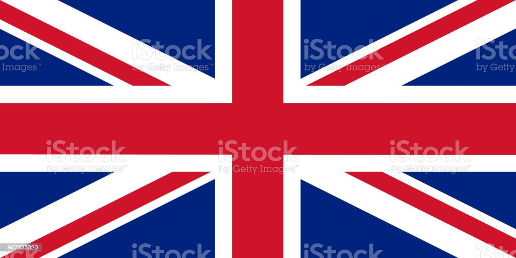 The official flag of great Britain vector art illustration
