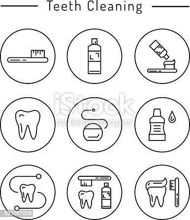 Die Mundhygiene Stock Vektor Art und mehr Bilder von Bürsten ...
