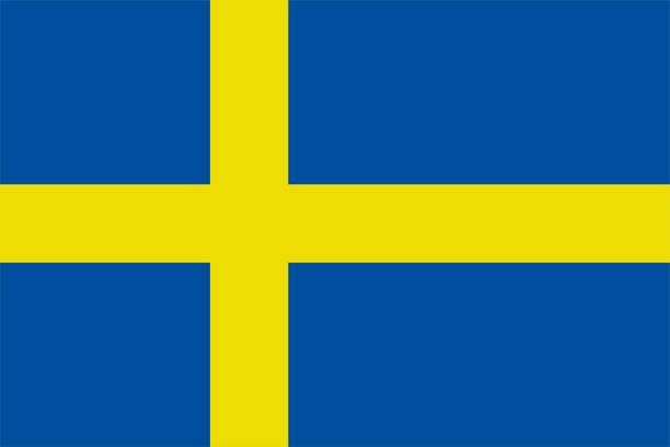 ilustraciones, imágenes clip art, dibujos animados e iconos de stock de la bandera original de suecia,ilustración vectorial el color del original, colores oficiales y proporción correctamente, aislar etiqueta de fondo blanco . eps10 - bandera sueca