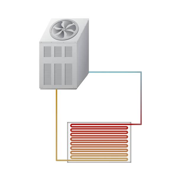 das außengerät der kältemaschine. - kondensation stock-grafiken, -clipart, -cartoons und -symbole