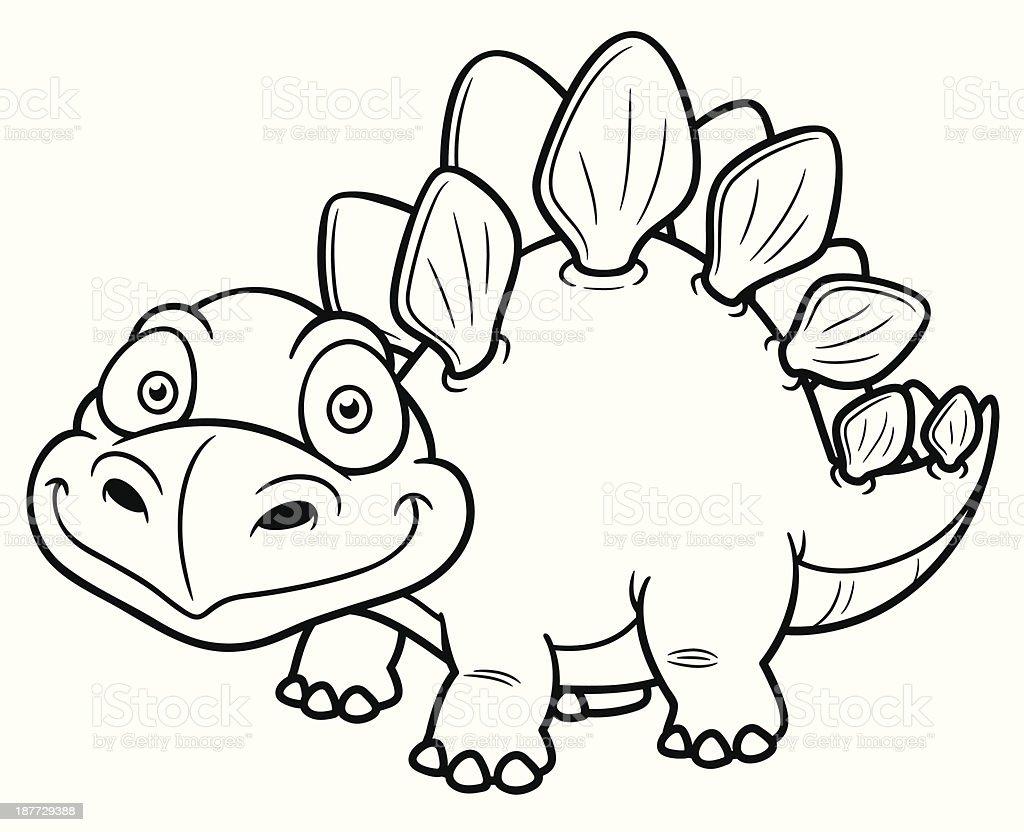 The Outline Of A Cartoon Dinosaur Stock Vector Art & More