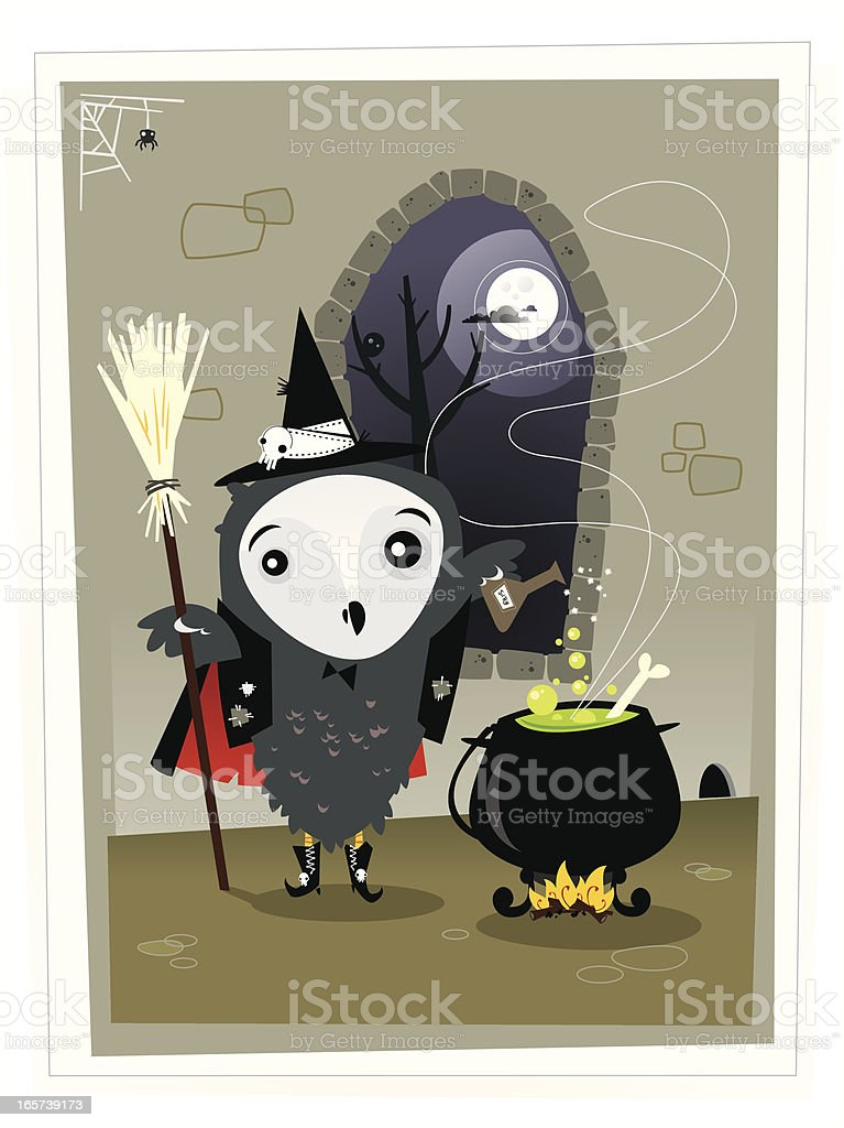 The Owl witch royalty-free stock vector art