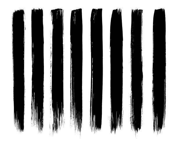 ilustraciones, imágenes clip art, dibujos animados e iconos de stock de la tinta de la pintura es una pintura del cepillo. - brush stroke