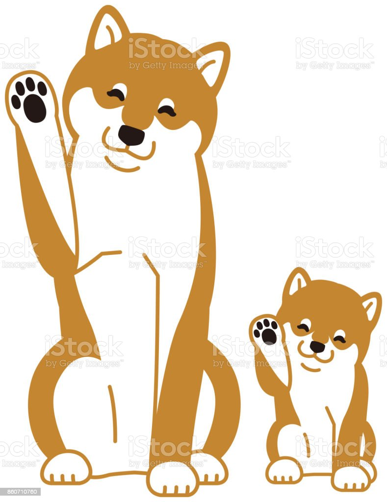 日本の犬の親子 2匹のベクターアート素材や画像を多数ご用意 Istock