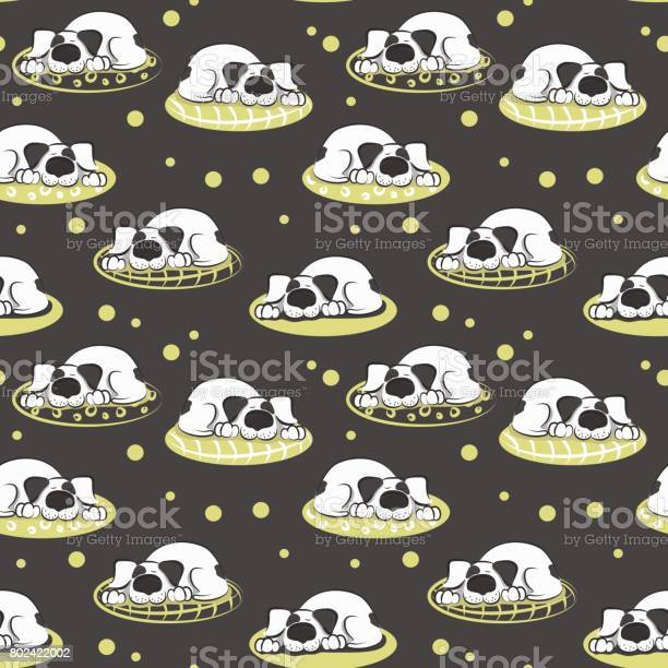 The pattern of sleeping on the pillow white dog vector id802422002?b=1&k=6&m=802422002&s=612x612&h=9p6dv bqsxqobq 4c2logdqyyyyigbfb0rzwum3ysk4=