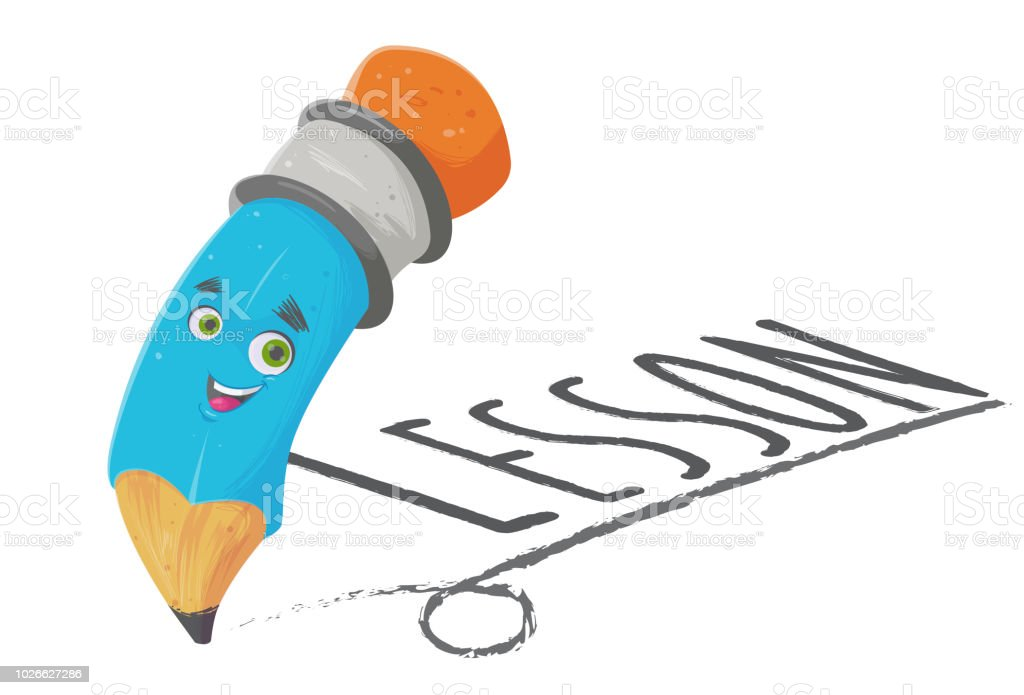 The Pencil Lesson vector art illustration