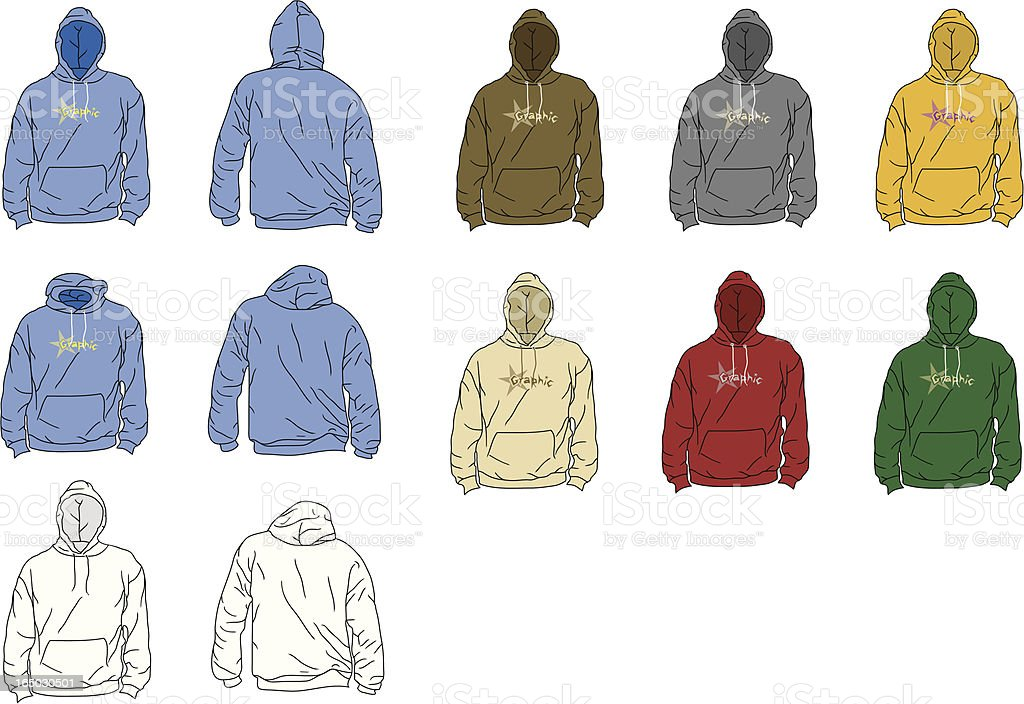 The Perfect Hoodie (arms down) royalty-free stock vector art