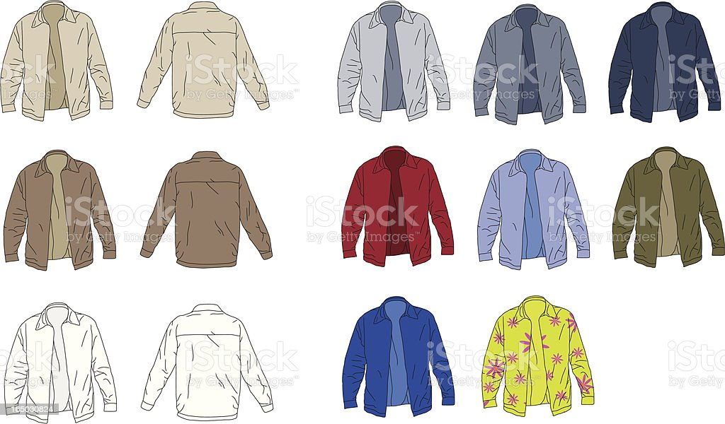 The Perfect Jacket royalty-free stock vector art