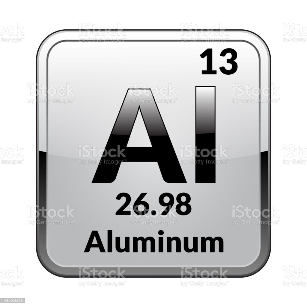 The Periodic Table Element Aluminumvector Stock Vector Art More