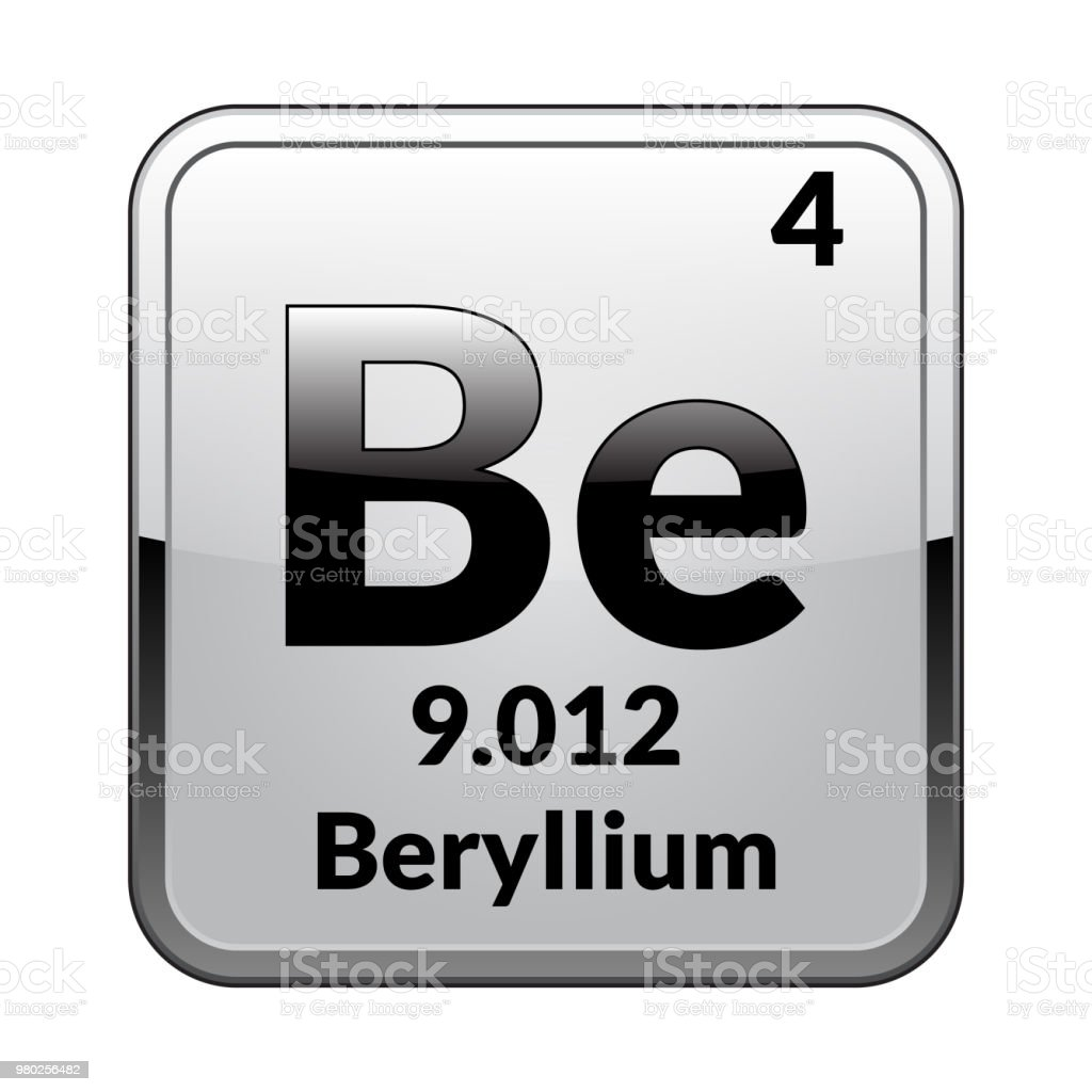 The periodic table element berylliumvector stock vector art more the periodic table element berylliumctor royalty free the periodic table element berylliumvector urtaz