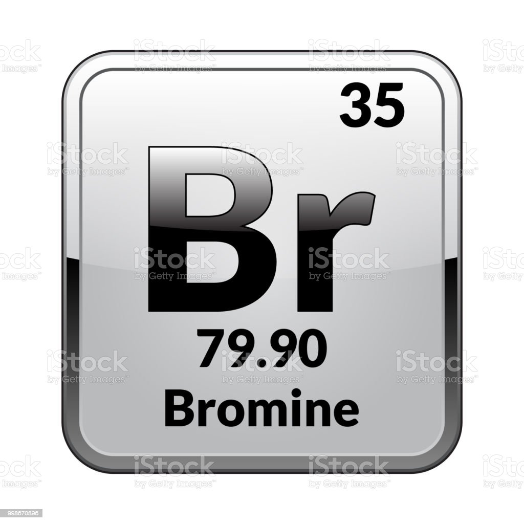 The Periodic Table Element Brominevector Stock Vector Art More