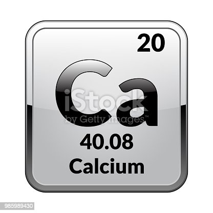 The Periodic Table Element Calciumvector Stock Vector Art More
