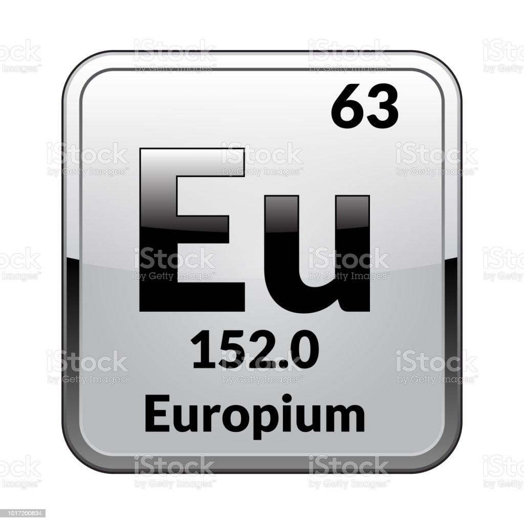 The Periodic Table Element Europium Vector Illustration Stock Vector
