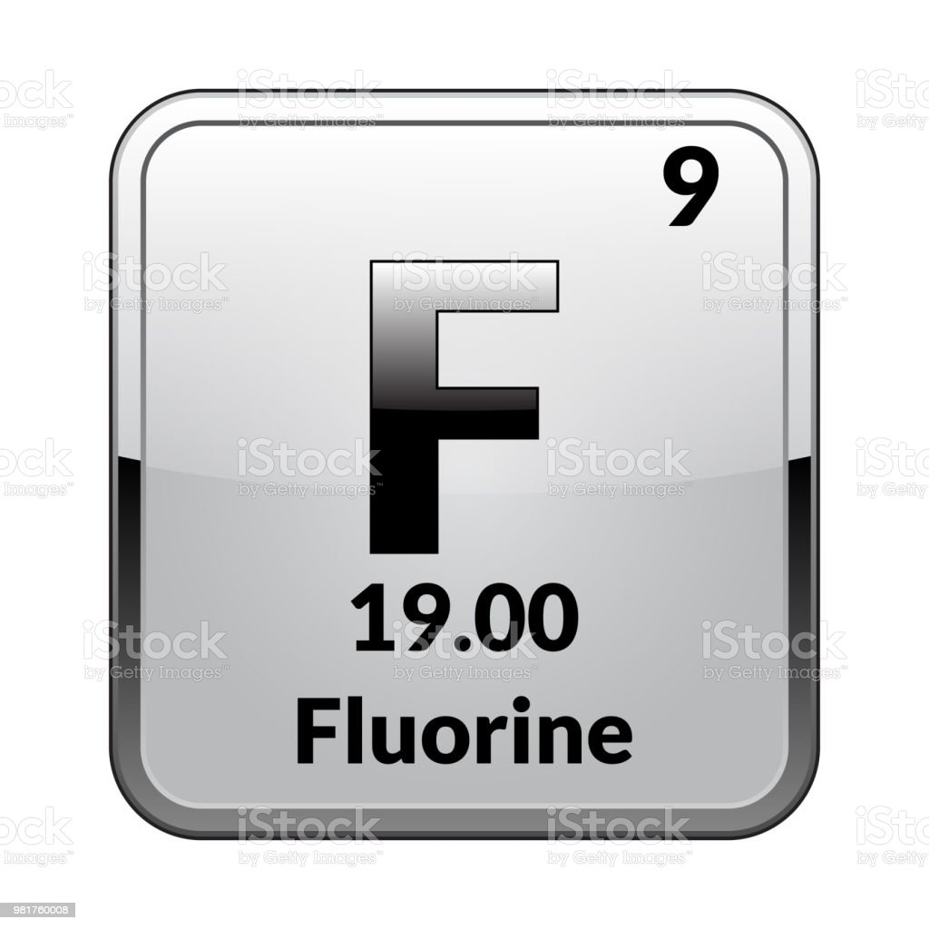 The Periodic Table Element Fluorinevector Stock Vector Art More