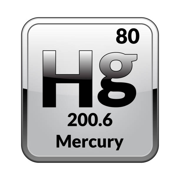 The Periodic Table Element Mercury Vector Illustration Stock Vector