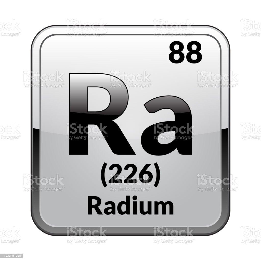 The Periodic Table Element Radium Vector Illustration Stock Vector