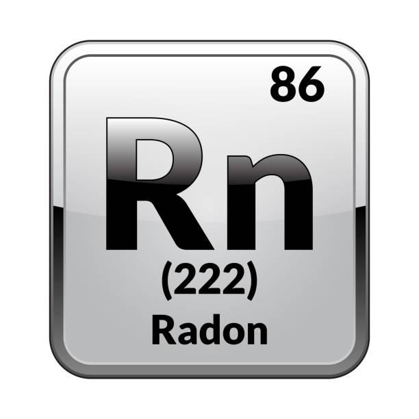 stockillustraties, clipart, cartoons en iconen met de periodic table-element radon. vectorillustratie - radon test